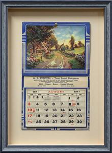 Custom Conservation Framed Calendar