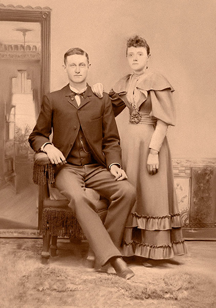Photo of couple - restored