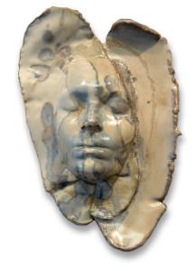 Clay Mask Sculpture by Garnetta Sullivan